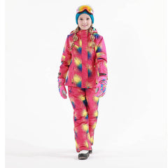 Free Shipping Winter Outdoor Children Clothing Set Windproof Ski Jackets + Pants Kids Snow Sets Warm Skiing Suit For Boys Girls