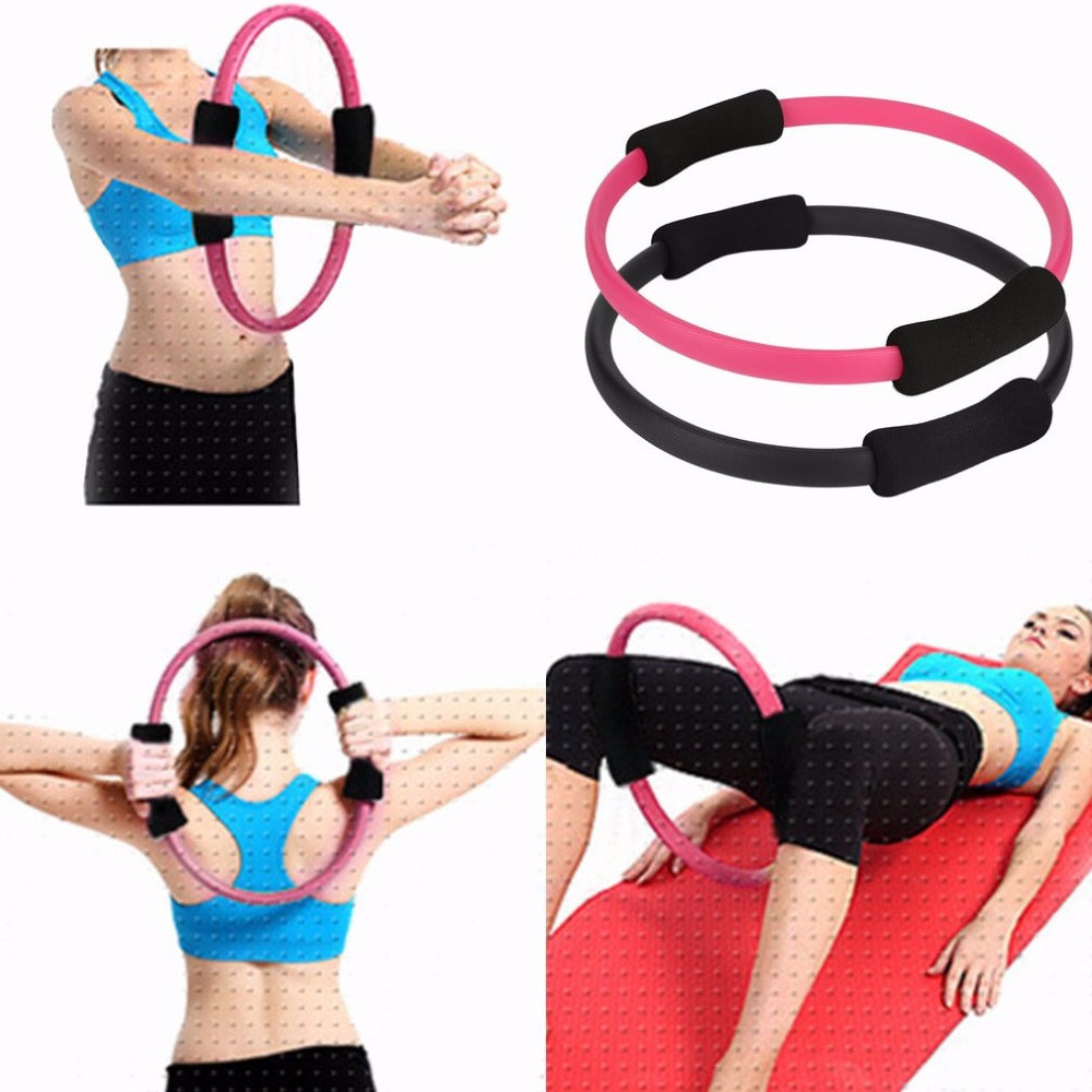 Massage Loop Pilates Ring Magic Circle Dual Grip Sporting Goods Pilates Yoga Ring Body Lose Weight Exercise Fitness Equipment