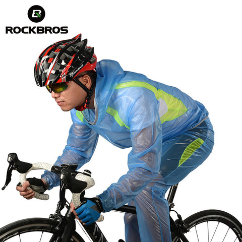 ROCKBROS Riding Bike Windcoat Cycling Bicycle Raincoat Suit MTB Bike Multifunction Climbing Fishing Rainproof Light Jersey Pants