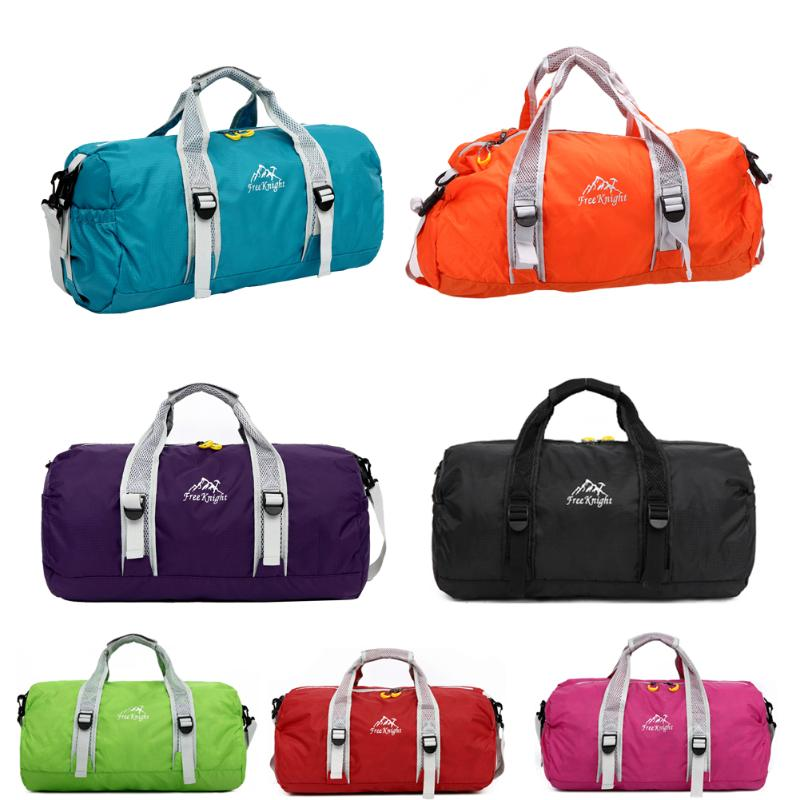 Unisex Waterproof Nylon Large Capacity Ultralight Foldable Outdoor Gym Bag Sports Bags Travel Duffle Bags High Quality 7Colors