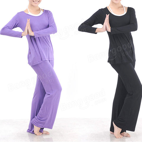 Plus Size Women Yoga Suits Sports Fitness half sleeve Yoga Clothing Set
