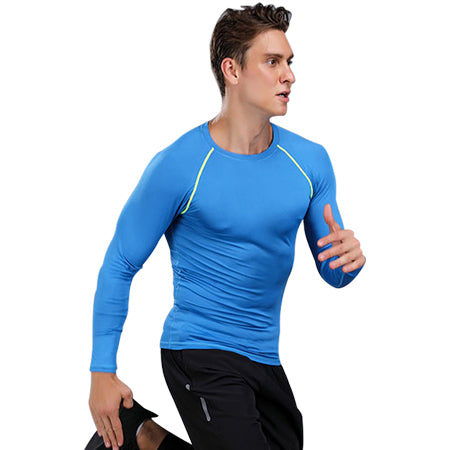 ALBREDA Man Outdoor Running Sport Shirt Fitness Basketball Sportswear High Elastic Compressed Gym Long sleeve Male Tight clothes