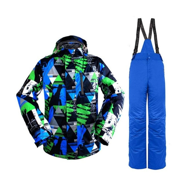 Ski Suit Men's Windproof Waterproof Thermal Snowboard Snow Male Skiing Jacket And Pants sets Skiwear Skating Clothes Top Sale