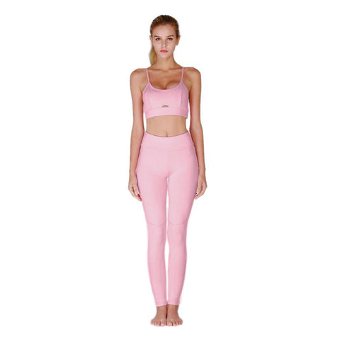 Women Sexy Suspenders Hollow Yoga Set