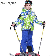 Brand New Ski Suits Boys Girls Warm Waterproof Children Skiing Snowboarding Jackets + Pants Winter Kids Child Ski Clothing Set