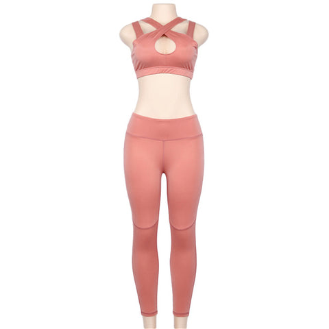 2018 Sexy Sport Suit Women Yoga Sets Bra Leggings