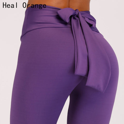 HEAL ORANGE Bow Tie Sport Leggings
