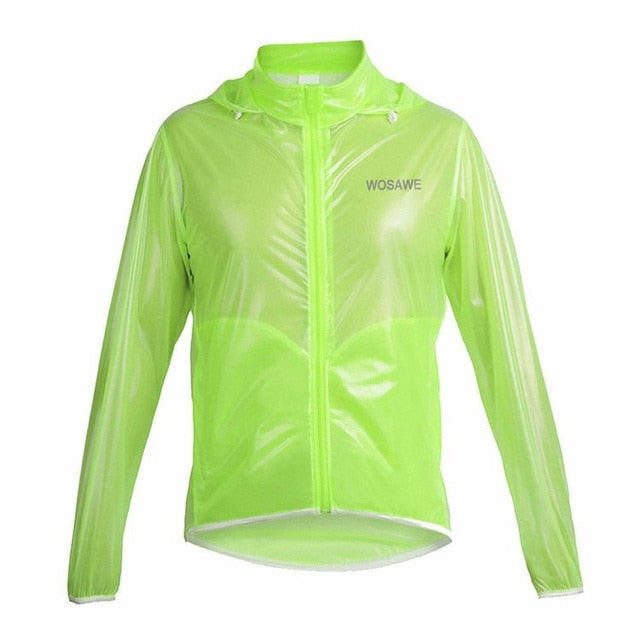 Hot Outdoor Sports Jacket Bicycle Raincoat Hooded Men Women Cycling Riding Rain Jacket Waterproof Windproof Zipper Raincoat