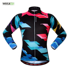 WOSAWE Quick Dry Long Sleeve Cycling Jerseys