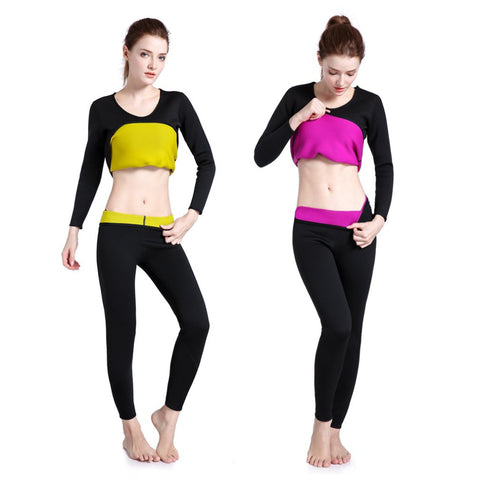 Long Sleeve Neoprene Hot Sweat Body Shaper for Woman