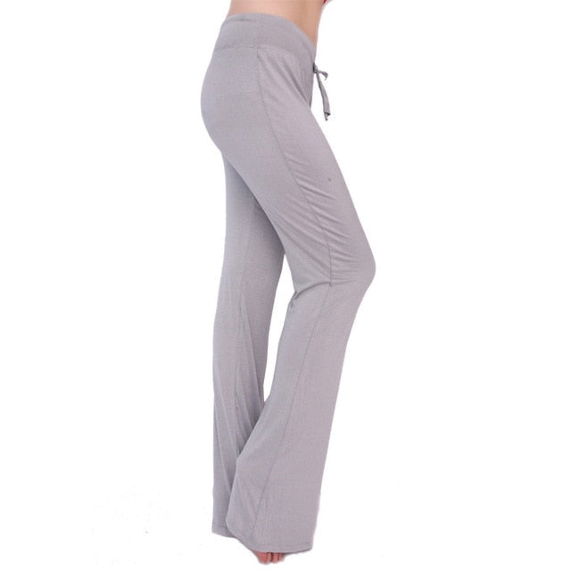 RealLion Plus Size Wide Leg Fitness Sport Pants Women High Waist Yoga Pants Elastic Waist Sport Trousers Gym Sport clothing 4XL
