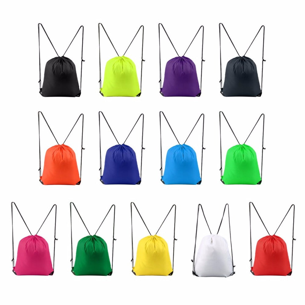 Drawstring Type 210D Polyester Sports Bags For Kids
