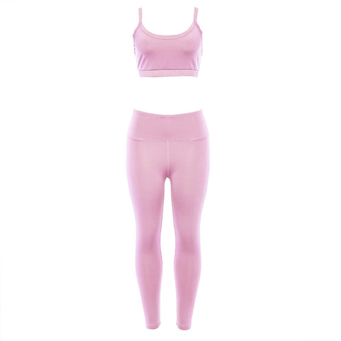 Women Yoga Sets Gym Elastic Running Sport Suit