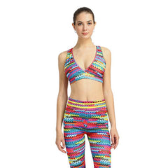 Knit Gym Suit Fitness Yoga Suit Sexy Yoga Bra + Sport Legging