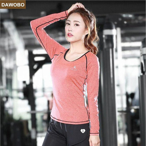 New Fall winter Women Sportswear Yoga Sets Slim Long Sleeve +Yoga Pants Fitness Dance Gym Sports Running Girls Female Sport Suit
