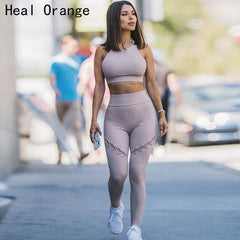 Women Sport Suit Sexy Bandage Gym Yoga Sets
