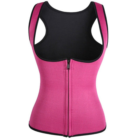 Zipper Rubber Tight Belt Sports Waist Vest