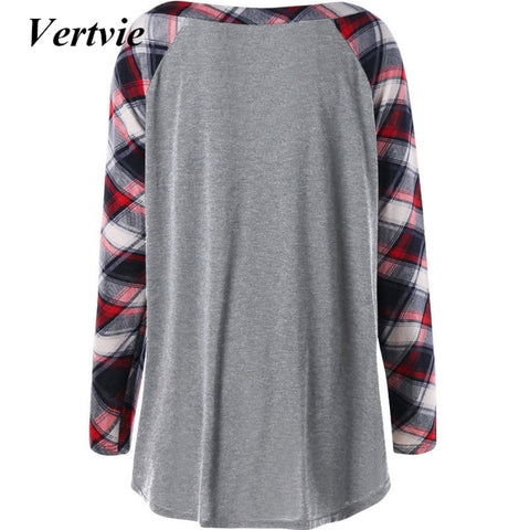Vertvie Outdoor Gym Hiking Female Women Yoga Shirts Patchwork Plus Size Slim Fitness Running Tops Clothing Sweatershirts