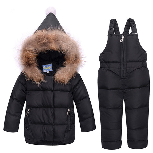 e280a8369516 winter Children clothing set baby Girl Ski suit sets Boy Outdoor ...