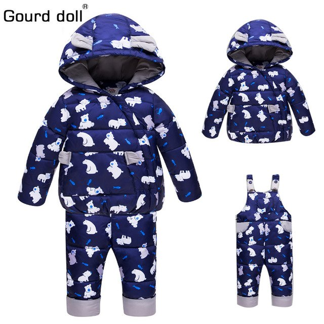 fdd50b7a2 Winter Suits for Boys Girls 2018 Boys Ski Suit Children Clothing Set ...