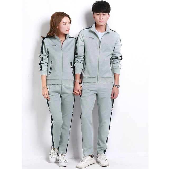 Plus Size 5XL Jogging Suit For Women Gym Clothing Men Outdoor Running Sportswear Tracksuit Sport Uniform Fitness Track Suit Set
