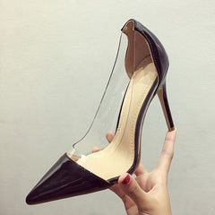 Patent leather stiletto sexy high heels fashion shoes