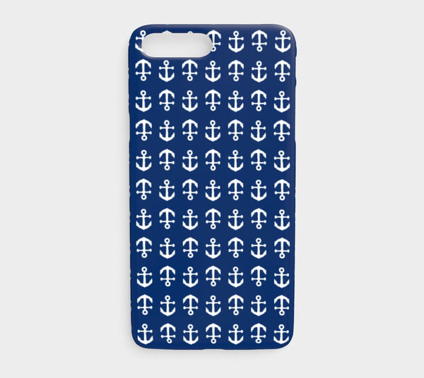 Anchor Toss Cell Phone Case iPhone 7Plus / 8Plus - White on Navy