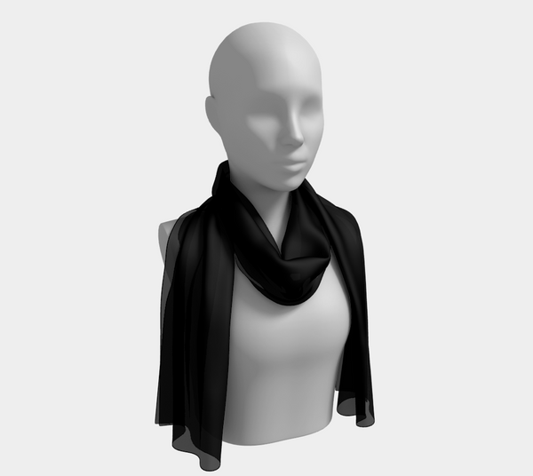Solid Long Scarf - Black