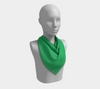 Solid Square Scarf - Green