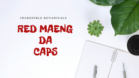 Red Maeng Kratom Da Capsules - IncredibleBotanicals-Kratom