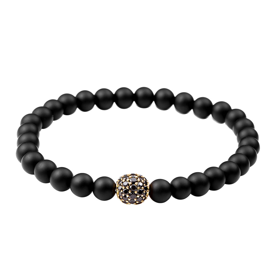 AS DE PIQUE Shamballa Armband matt gold