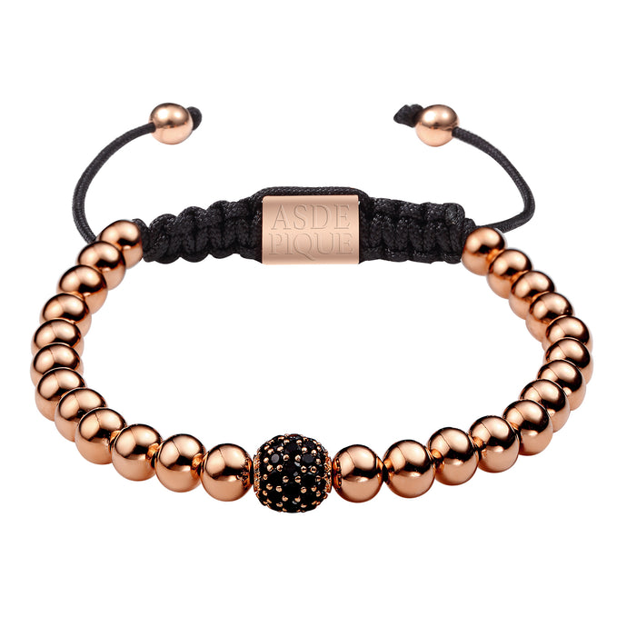 AS DE PIQUE Shamballa Armband Single ball rosegold