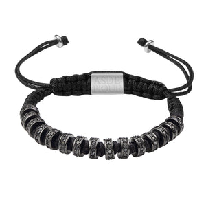 AS DE PIQUE Shamballa Armband Multistopper schwarz