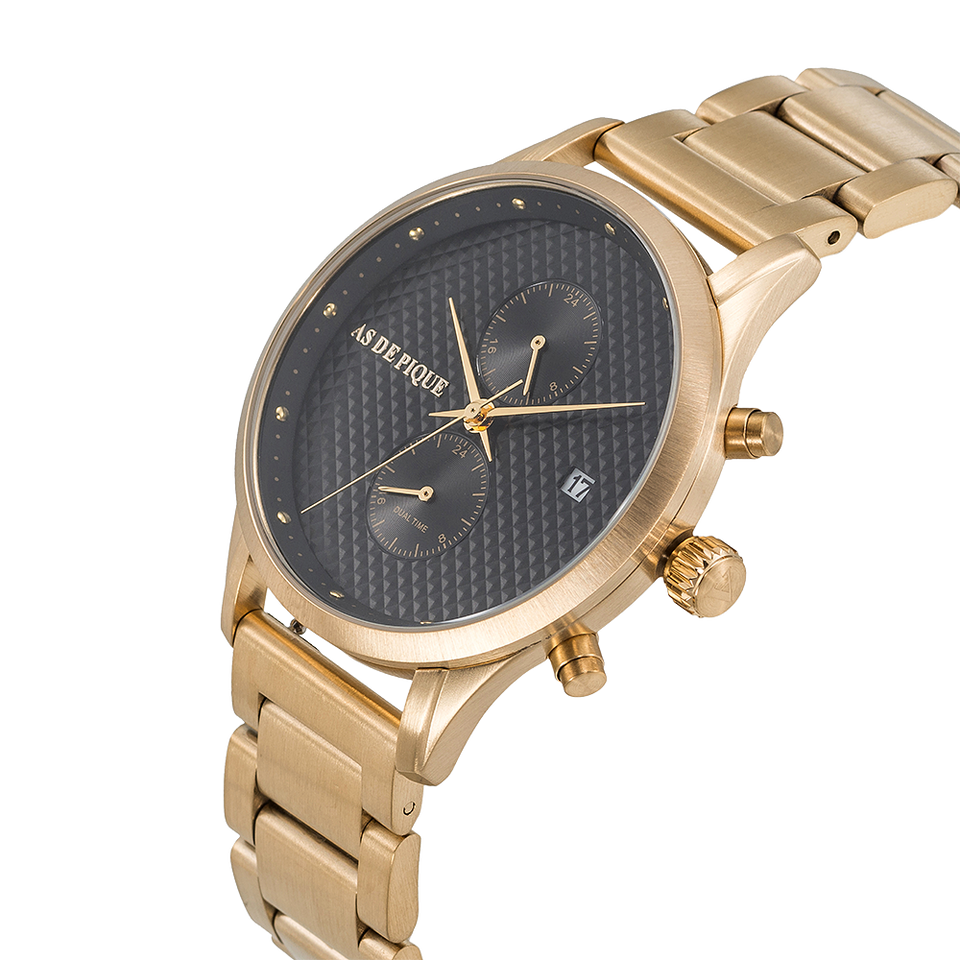 AS DE PIQUE Aurora Gold Stahl 42mm