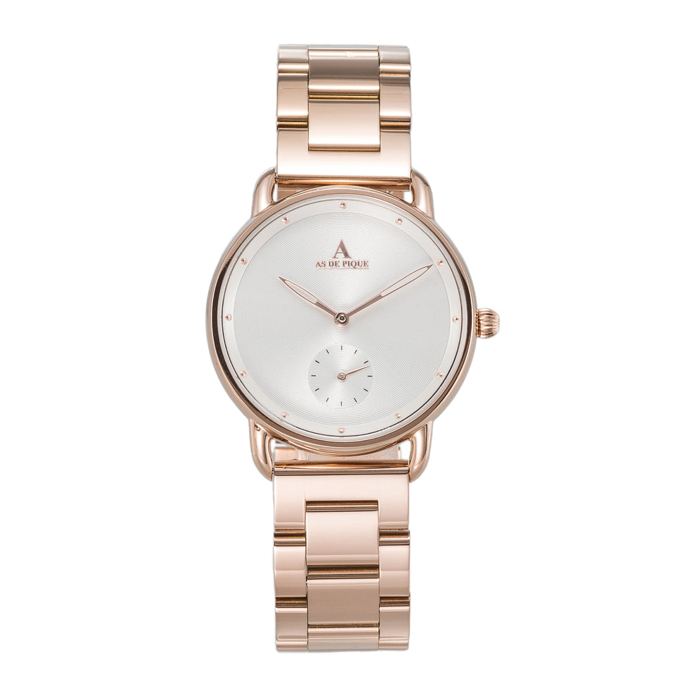 AS DE PIQUE Alyssa Rosegold Stahl 36mm