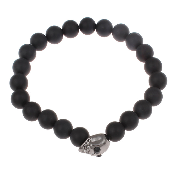 AS DE PIQUE Shamballa Armband matt Skull