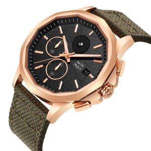 AS DE PIQUE Legend Rosegold Grün 45mm
