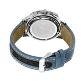 AS DE PIQUE Legend Silber Blau 45mm