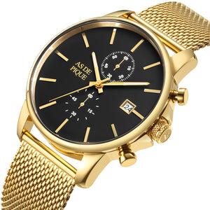 AS DE PIQUE Chrono Gold Milanaise 43mm