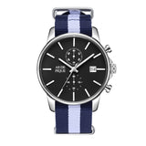 AS DE PIQUE Chrono Silber Nato Blau Weiß 43mm