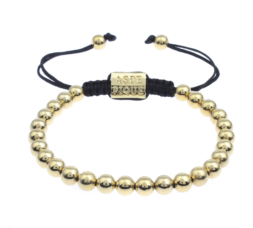 AS DE PIQUE Shamballa Armband gold
