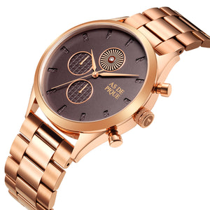 AS DE PIQUE Turbine Rosegold 42mm Edelstahl