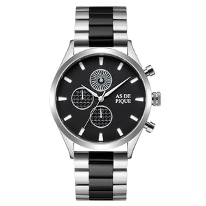 AS DE PIQUE Turbine Silber 42mm