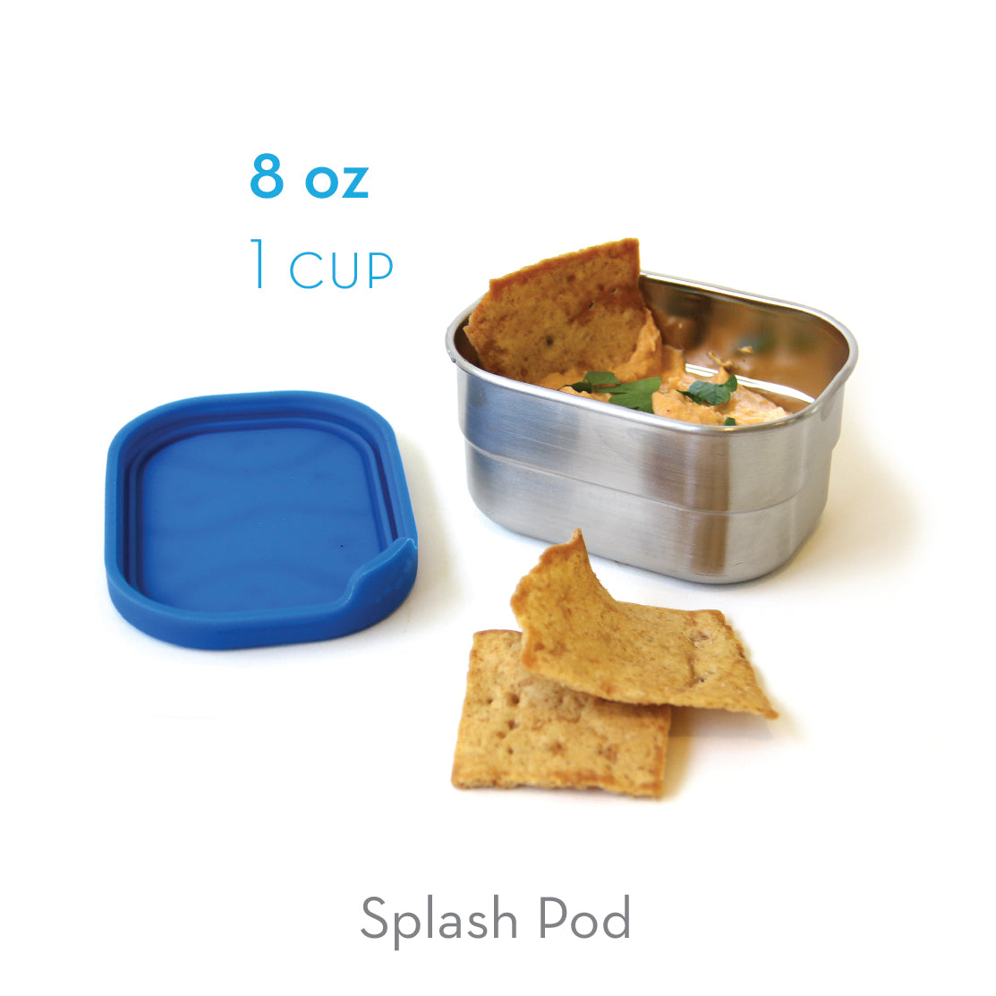 Splash Pod - Stainless Steel Snack Cup