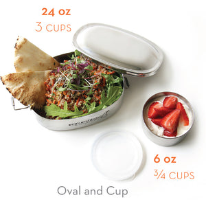 Stainless Steel Lunchbox and Snack Cup