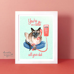 New art print! Elvis the Siamese!