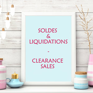 Soldes, Liquidations, Clearance Sales