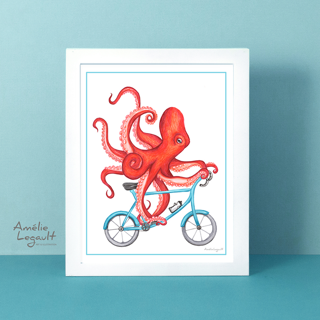 ANIMALS ON BIKES - Art Prints & Cards