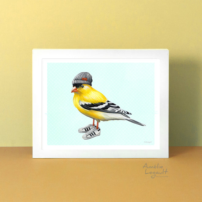 FASHIONABLE BIRDS - Art Prints & Cards