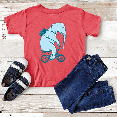 Elephant on bike t-shirt